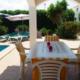 Dining terrace Casa Kym Trebaluger