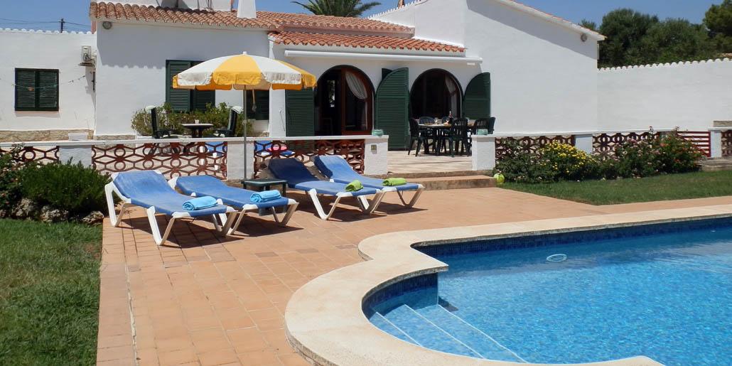 Pool terrace Villa Juanita Binixica