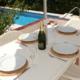 Poolside dining, Villa Bini Zulema Binibeca