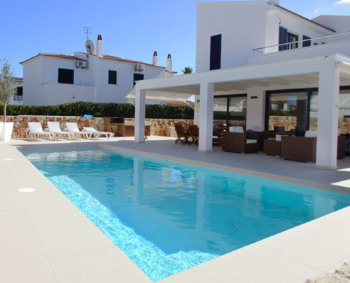 Large private pool Villa Juanita Cala Blanca